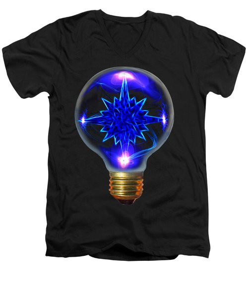 Men's V-Neck T-Shirt featuring the photograph Star Bright by Shane Bechler