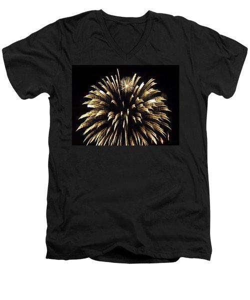 Men's V-Neck T-Shirt featuring the photograph Star Flower by Tara Lynn
