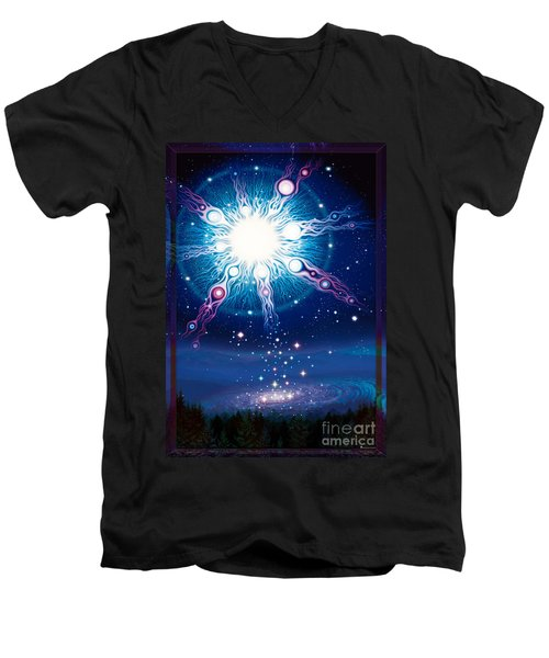 Star Matrix Men's V-Neck T-Shirt