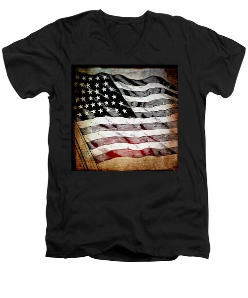 Star Spangled Banner Men's V-Neck T-Shirt