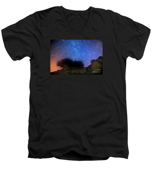 Star Trails Above Shell Beach Men's V-Neck T-Shirt