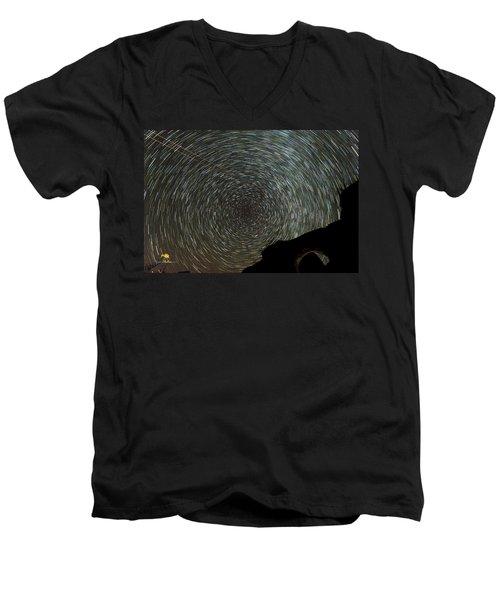 Star Trails Men's V-Neck T-Shirt