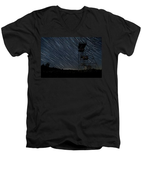 Star Trails Men's V-Neck T-Shirt