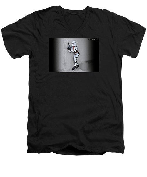 Star Wars By Knight 2000 Photography - Armor Men's V-Neck T-Shirt by Laura Michelle Corbin