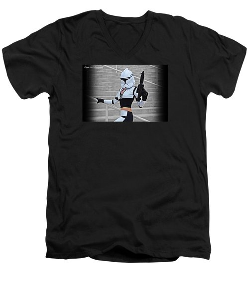 Star Wars By Knight 2000 Photography - Hello Guns Men's V-Neck T-Shirt by Laura Michelle Corbin