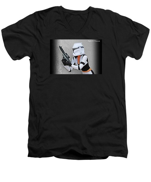 Star Wars By Knight 2000 Photography - Waiting Men's V-Neck T-Shirt by Laura Michelle Corbin