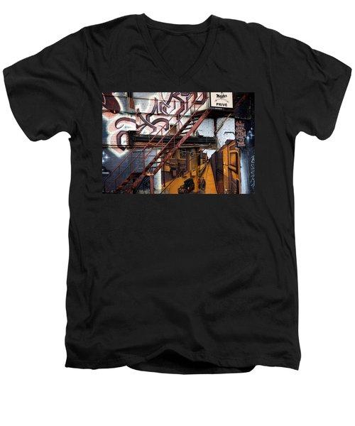 Stare Stair Men's V-Neck T-Shirt