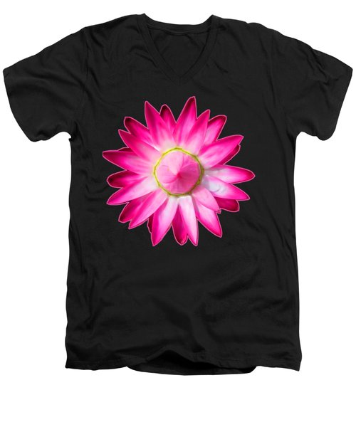 Starflower Opening  Mandala Men's V-Neck T-Shirt