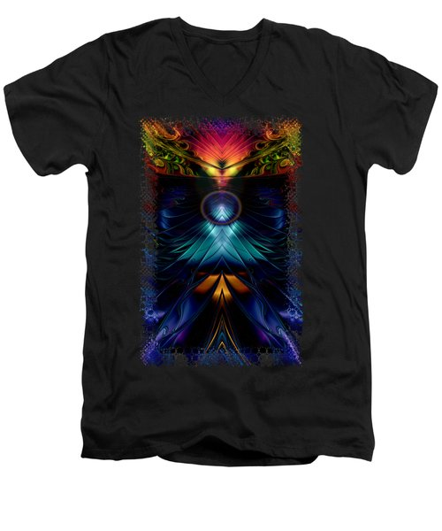 Stargatez Symmetrical Abstract Men's V-Neck T-Shirt by Sharon and Renee Lozen