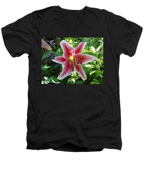 Stargazer Lily Men's V-Neck T-Shirt