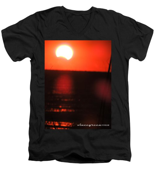 Staring Into A Star Eclipsed Men's V-Neck T-Shirt
