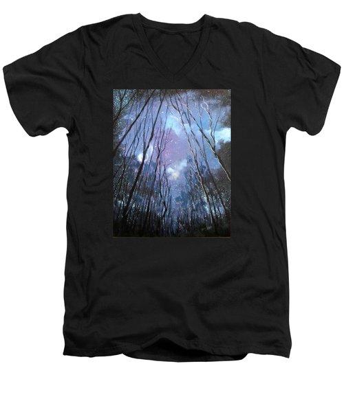 Starlight Men's V-Neck T-Shirt by Barbara O'Toole