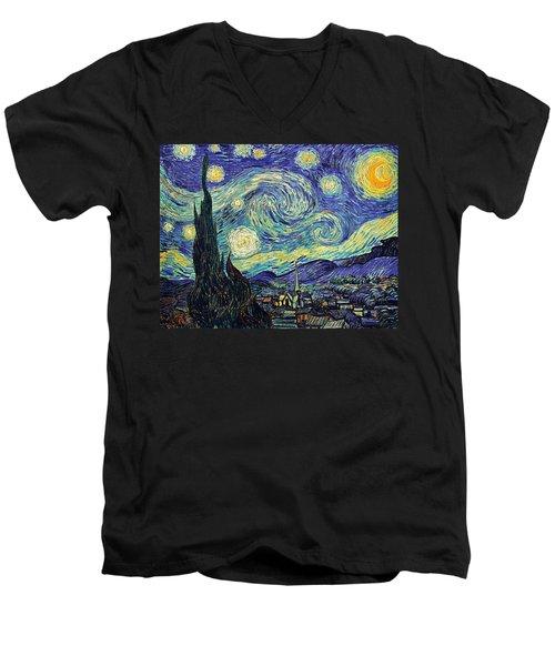 Starry Night Men's V-Neck T-Shirt