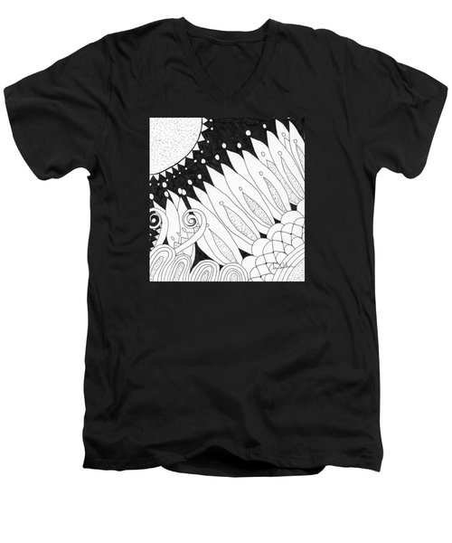 Starry Night Men's V-Neck T-Shirt by Lou Belcher
