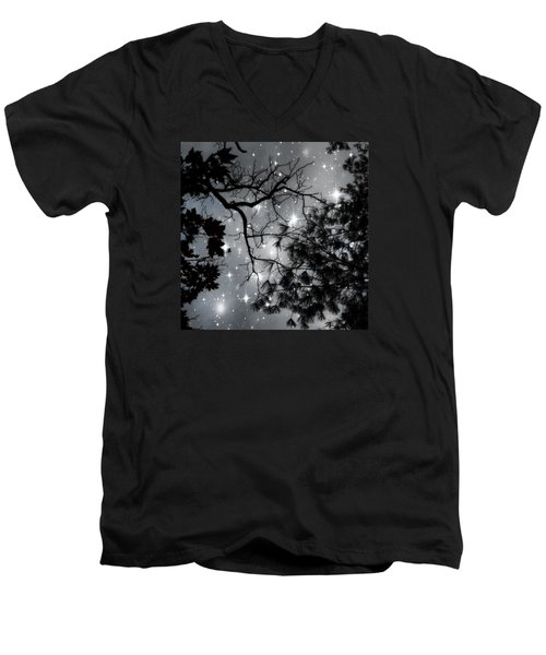 Starry Night Sky Men's V-Neck T-Shirt