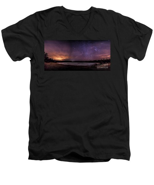 Stars Over Lake Eaton Men's V-Neck T-Shirt