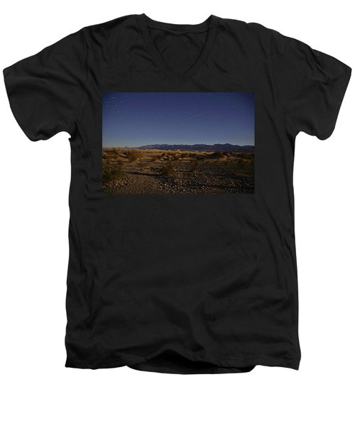 Stars Over The Mesquite Dunes Men's V-Neck T-Shirt by Michael Courtney