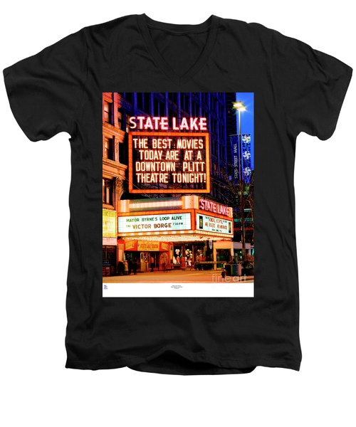 State-lake Theater Men's V-Neck T-Shirt