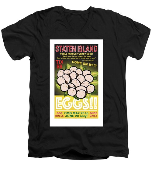 Staten Islands Eggs Men's V-Neck T-Shirt
