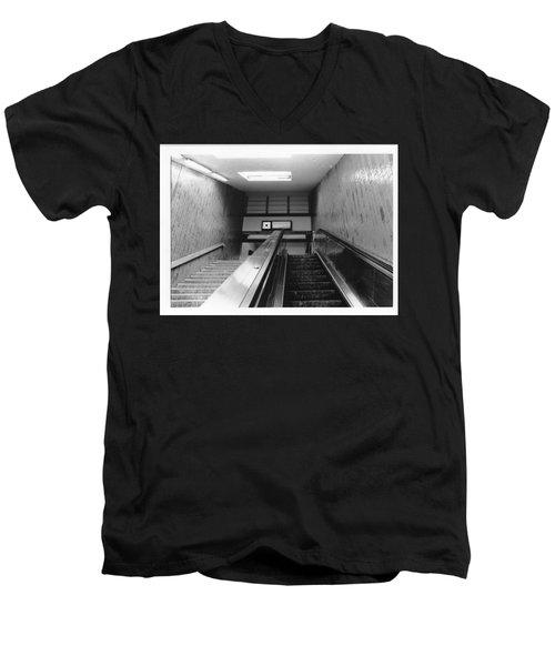 Station Stop  Men's V-Neck T-Shirt