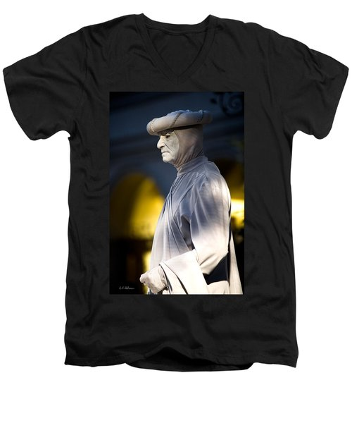 Statuesque Men's V-Neck T-Shirt