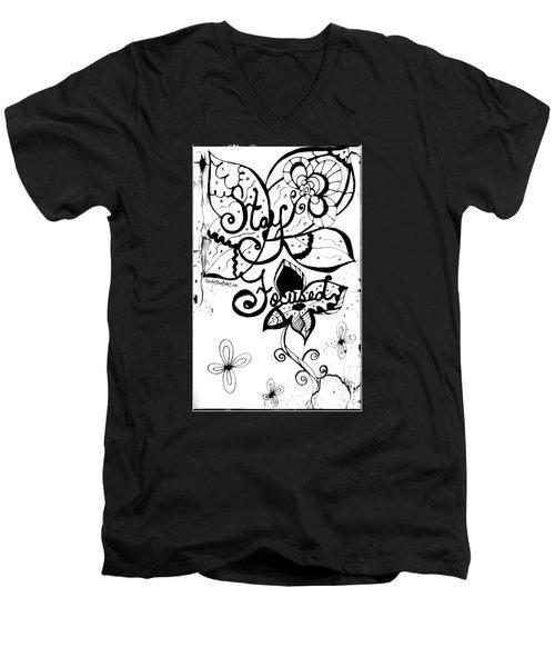 Stay Focused Men's V-Neck T-Shirt
