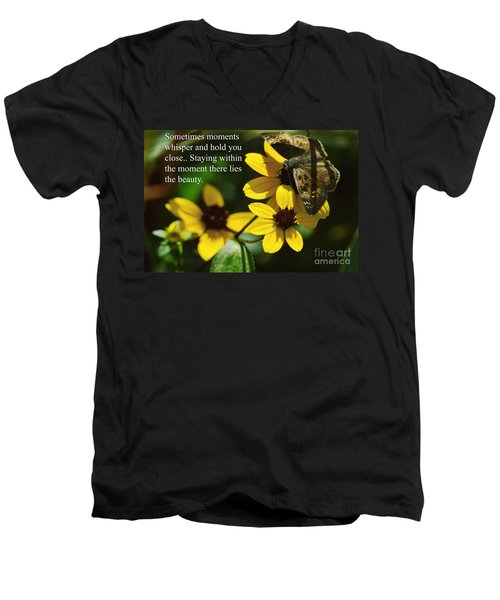 Staying Within The Moment Men's V-Neck T-Shirt