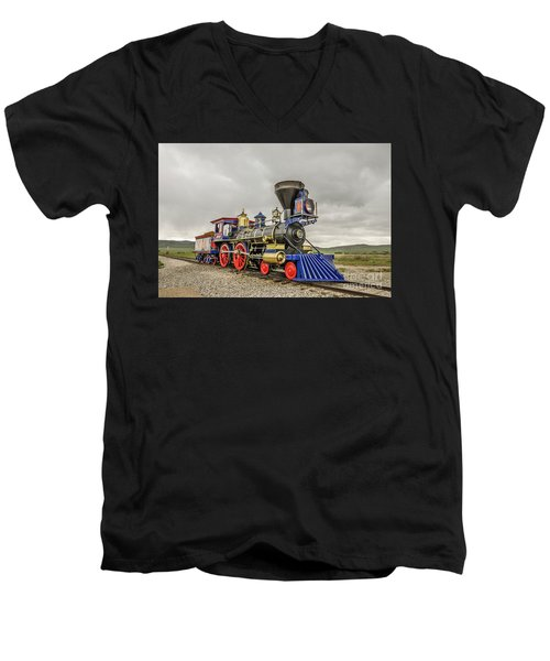 Steam Locomotive Jupiter Men's V-Neck T-Shirt