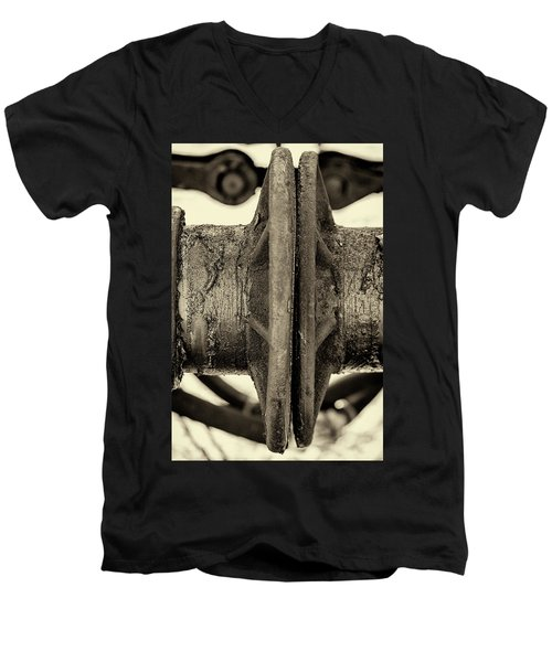 Men's V-Neck T-Shirt featuring the photograph Steam Train Series No 31 by Clare Bambers