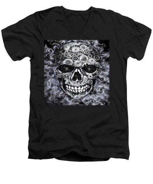Steampunk Skull Men's V-Neck T-Shirt