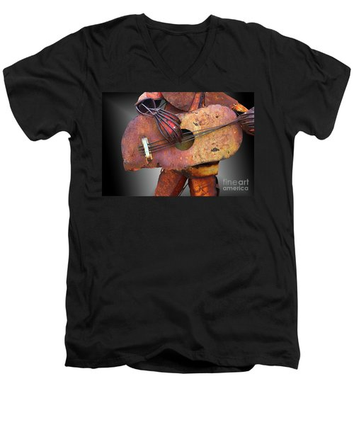 Steel Guitar - Or - Too Many Fingers And Not Enough Strings Men's V-Neck T-Shirt