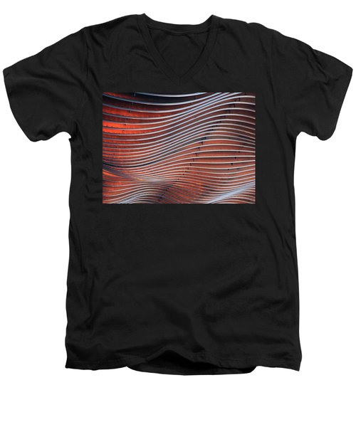 Steel Ribbons Men's V-Neck T-Shirt