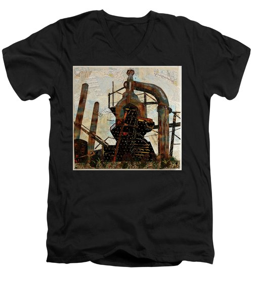 Steel Stacks Squared Men's V-Neck T-Shirt