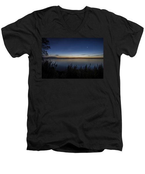Steelworkers Park View At Dawn Men's V-Neck T-Shirt