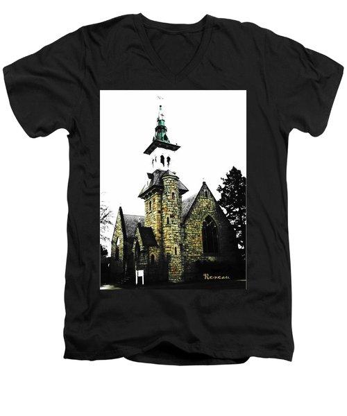 Steeple Chase 2 Men's V-Neck T-Shirt by Sadie Reneau
