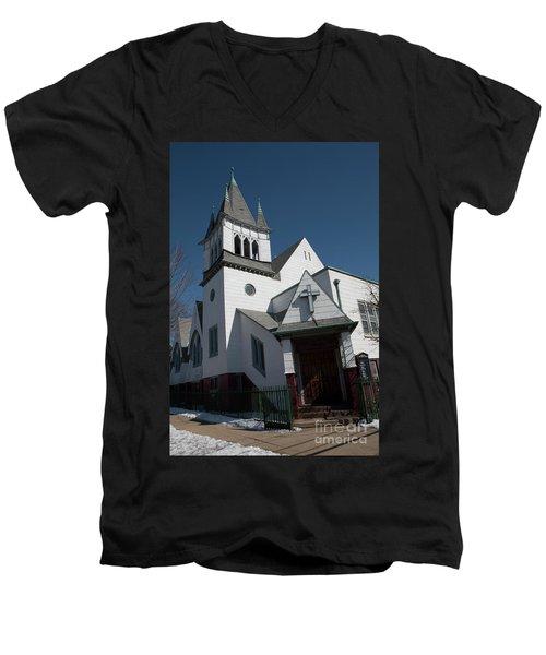 Steinwy Reformed Church Steinway Reformed Church Astoria, N.y. Men's V-Neck T-Shirt