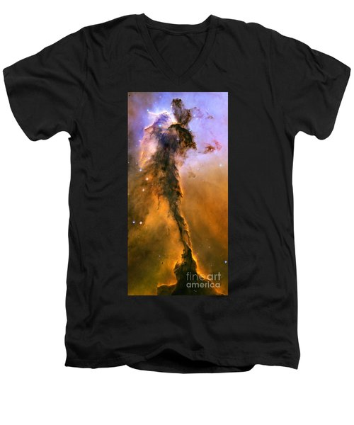 Stellar Spire In The Eagle Nebula Men's V-Neck T-Shirt