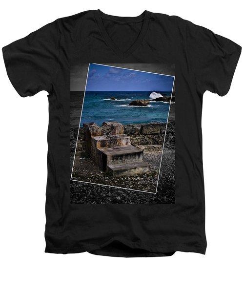 Steps To The Ocean2 Men's V-Neck T-Shirt