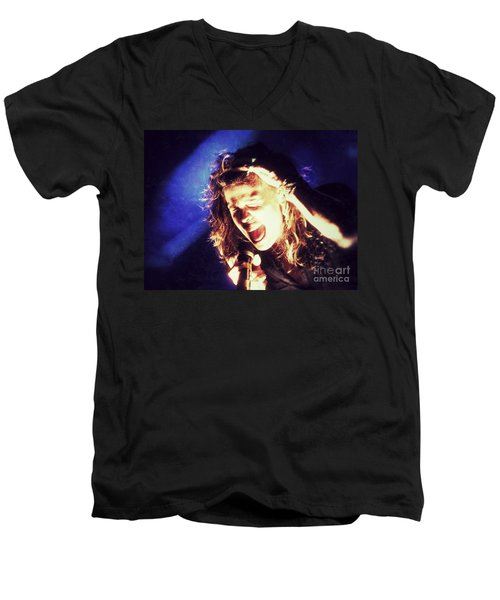 Men's V-Neck T-Shirt featuring the photograph Steven In Color by Traci Cottingham