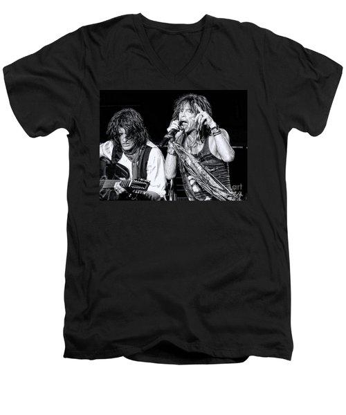 Steven Tyler Croons Men's V-Neck T-Shirt by Traci Cottingham