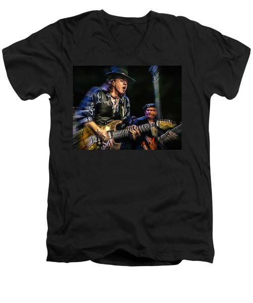 Stevie Ray Vaughan - Couldn't Stand The Weather Men's V-Neck T-Shirt