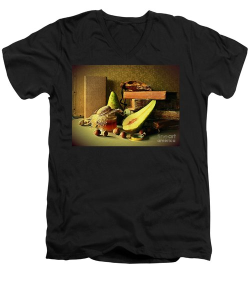 Still Life With Pears II Men's V-Neck T-Shirt
