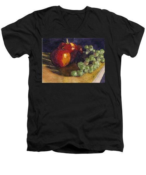 Still Apples Men's V-Neck T-Shirt