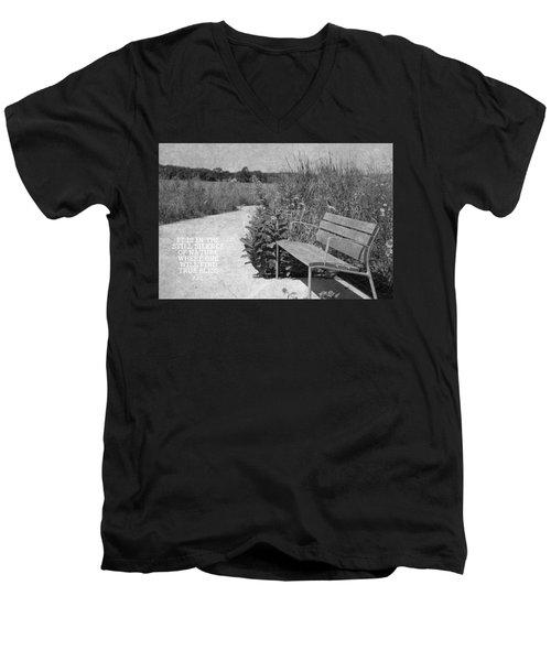 Still Silence Of Nature Men's V-Neck T-Shirt by Inspired Arts