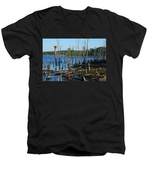 Still Wood - Manasquan Reservoir Men's V-Neck T-Shirt