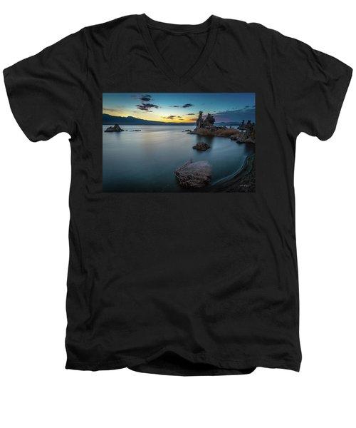 Stillness...mono Lake Men's V-Neck T-Shirt