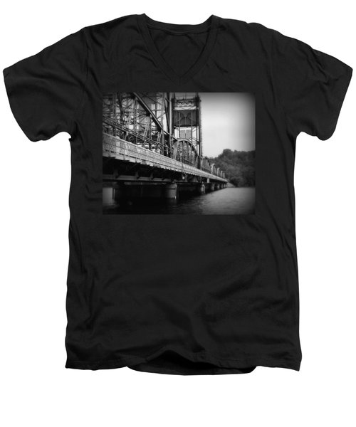 Stillwater Bridge  Men's V-Neck T-Shirt by Perry Webster