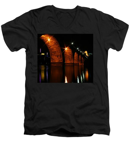 Stonearch Bridge - Minneapolis Men's V-Neck T-Shirt