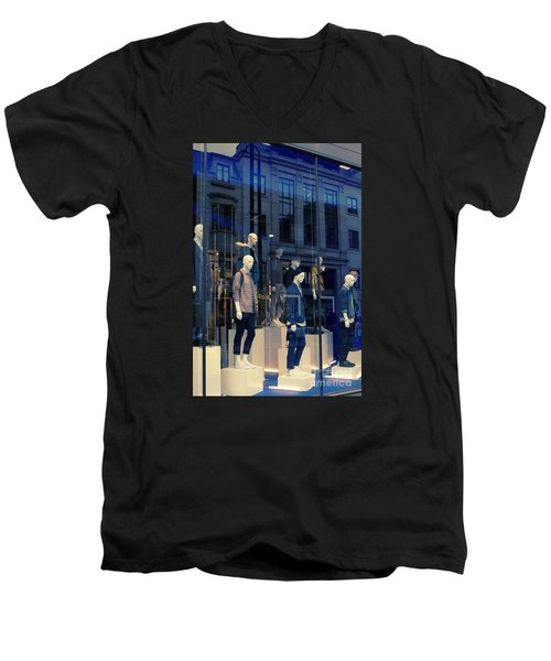 Store Window, London,uk Men's V-Neck T-Shirt