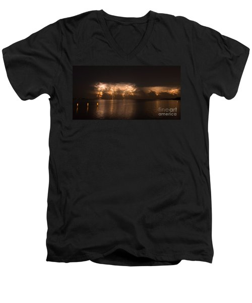 Storm Before Dawn Men's V-Neck T-Shirt by Quinn Sedam